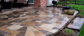 patio pavers over concrete. ( Adding Pavers To Installation Of Stone Over Concrete Slab (nice Patio Gallery