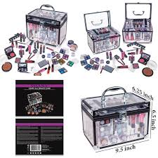 details about shany carry all trunk professional makeup kit eyeshadow pedicure manicure with