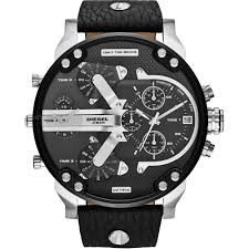 "oversized watches large oversize watches watch shop comâ""¢ mens diesel daddy 2 0 chronograph watch dz7313"