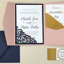 Wedding Invitation Folder Cards Pockets Diy Wedding Invitation Supplies