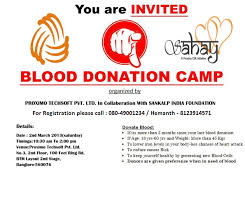 invitation blood donation camp proximo blood donation camp
