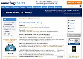 Amazing Charts Pricing Compare Behavioral Health Ehr Software Ehr Pricing