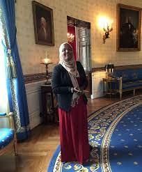 Pamplin Media Group - Aloha teen Aisha Osman speaks at the White House