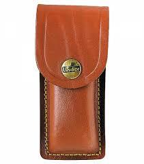 case for pocket knife haft length 11 cm brown leather