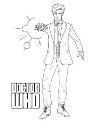 Small Picture doctor who coloring pages david tennant Just Colorings