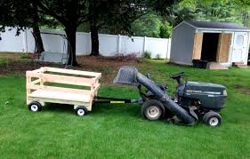how to build a utility trailer that stands alone or attaches to mowers as a lawn