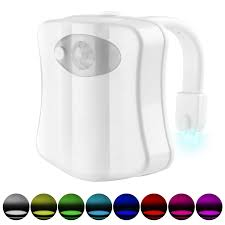 Battery Operated <b>Toilet Seat</b> Lamp for Bathroom Washroom <b>LED</b> ...