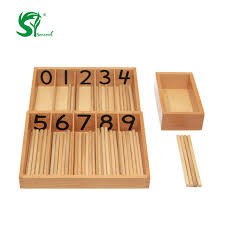 Wooden Math Games Montessori Professional Math Games Number Stick Toys Educational 56