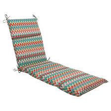 Outdoor Chaise Lounge Cushion Red Turquoise Chevron Tar