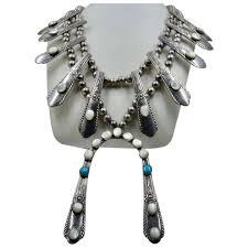 unique navajo squash blossom necklace