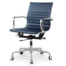 modern office chair leather. Fulbright Office Chair Navy Modern Leather