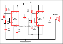 police siren circuit using ne timer ne timer ic pin diagram circuit diagram of police siren circuit using ne555 timer