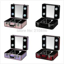 trolley and por makeup box with light makeup box with light
