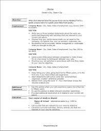 Resume Formats Examples. Example Of Chronological Resume Basic ...