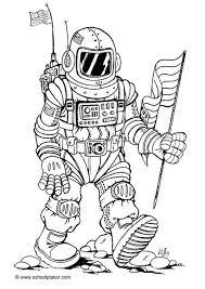 Kleurplaat Astronaut Kleurplaten Espacio En Blanco Astronauta