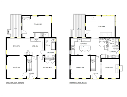 interior design kitchen drawings.  Interior Before U0026 After Floor Plans Intended Interior Design Kitchen Drawings