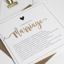 Recipe For Marriage Card