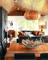 orange living room accessories radiant interior space using leather black sofa and pillows burnt decor