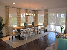 valances for sliding glass doors dining room traditional with brick floors geometric pattern