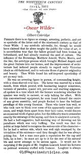 oscar wilde biographical note oscar wilde author study what did  a look at oscar wilde the nineteenth century 1922