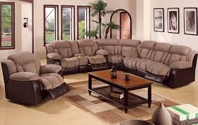 sectional sofa recliners light brown colored sofas with one browns small table and carpet three artistic