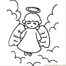 Small Picture Angel With Halo Coloring Page Free Angel Coloring Pages