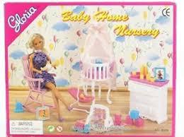 Barbie furniture for dollhouse Goldlok Gloria Barbie Size Dollhouse Furniture Baby Home Nursery Play Set Ebay Barbie Furniture Sets Ebay