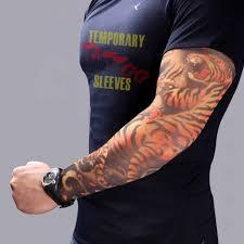 1 шт эластичные мужские имитация тату на руку крутые разноцветные чулки