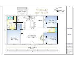 pine bluff house plan 1400 square feet