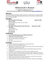 Resume Template Ccna Resume Examples Creative Sample Resume Format