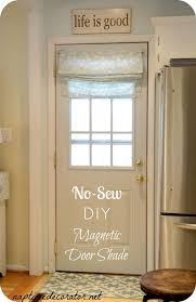 no sew diy magnetic door shade naptime decorator me for window shades decorations 16