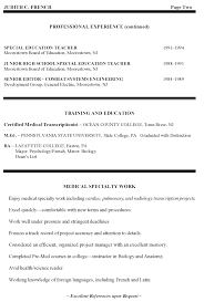 High School Special Education Teacher Resume High School Special