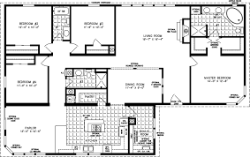 Floor Plans For 4 Bedroom Houses Manufactured Homes Floor Plans Jacobsen  Homes