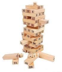 Game With Wooden Blocks 100PCS wood block Jenga game building blocksvtop price review 51