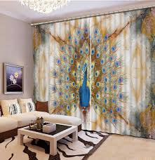Peacock Living Room Peacock Curtains Promotion Shop For Promotional Peacock Curtains