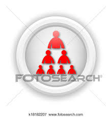 Organizational Chart With People Icon Stock Illustration