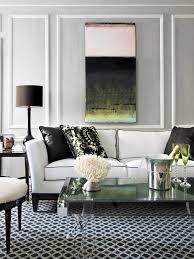 white sofa living room with black white floor