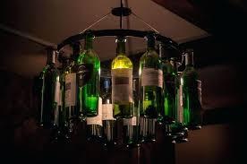 bottle chandelier wine tree