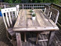 rustic garden furniture. Rustic Outdoor Table Deck Furniture Diy Garden