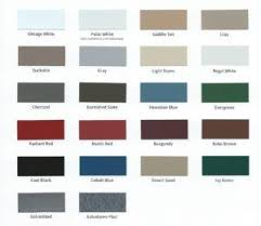 Abc Metal Roofing Color Chart Metal Roof Metal Steel Siding