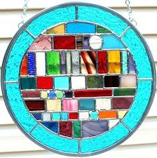 stained glass wind chime stained glass multicolored round geometric stained glass panel from on stained glass stained glass