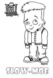Baby Slow Moe Printable Coloring Sheet