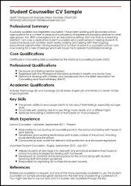 Student Counsellor CV Sample MyperfectCV Extraordinary Working Student Resume Sample