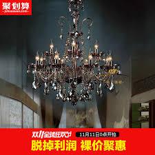 get ations chandelier crystal chandelier european gray smoke crystal chandelier european chandelier lighting restaurant lights chandelier black