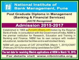 national institute of bank management nibm pune maharashtra post graduate diploma in management