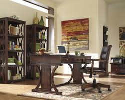signature design by ashley devrik home office desk chair with exposed wood arms wayside furniture office task chairs