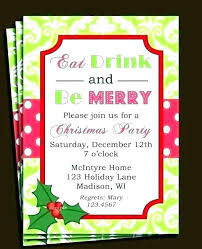 Company Christmas Party Invite Template Company Holiday Invitation Wording Invitations For Party Party
