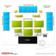 Sc State Fair Concert Seating Chart Pepsi Grandstand Layout South Carolina State Fair State