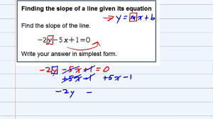 aleks finding the slope of a line given its equation