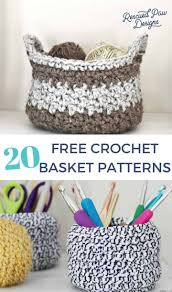 Free Crochet Basket Patterns Impressive 48 Free Crochet Basket Patterns How To Crochet A Basket Tutorials